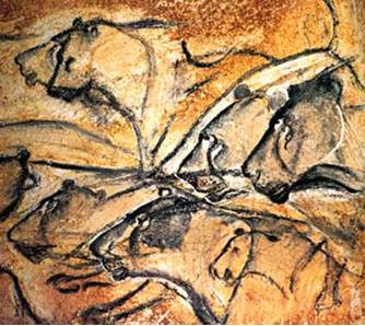 Cave Painting of Cave Lions